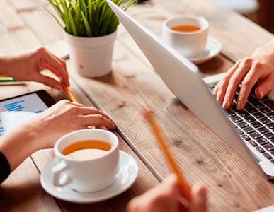 Opción de completar tu pedido con otros productos de desayuno o coffe break.